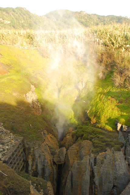 Blow hole, Punakaiki, New Zealand