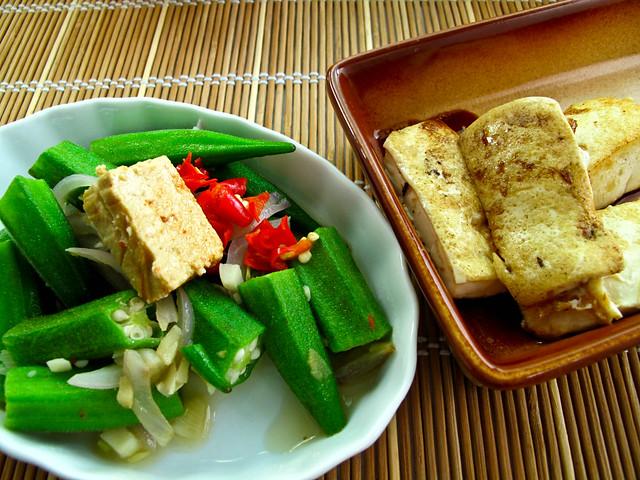 IMG_0622 羊角豆,腐乳,煎豆腐