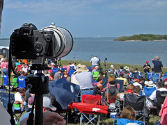 Perspective from behind the lens (shadowdoc31) Tags: space shuttle ksc launch discovery causeway 133 sts