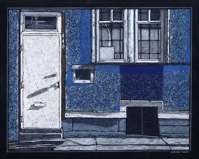 blue stucco