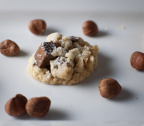 Hazelnut Gianduja Chunk Cookies