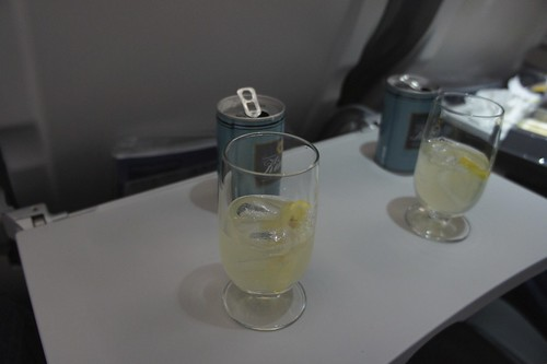 Frankfurt-Munich, Lufthansa Business class - bitter lemon