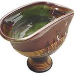 "<b>Footed Bowl</b><br/> Dean and Gunnar (LC ' 86) Schwarz (stoneware, 2003) LFAC#2002:05:21<a href=""http://farm6.static.flickr.com/5179/5490279855_3274668a01_o.jpg"" title=""High res"">∝</a>"