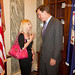 Donna Guinn Kaufmann and Senator Warner