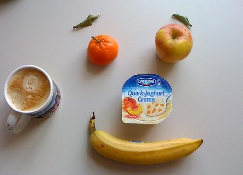 Danone Quark-Joghurt-Creme, Apfel Ambrosia, Clementine & Banane