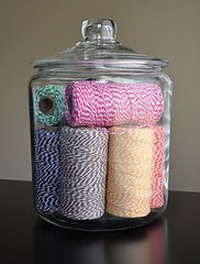 Jar of twine (ParkersPrints) Tags: spools colorful jar bakerstwine thetwinery