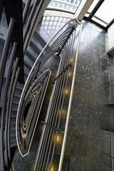 Deep (Bulsti) Tags: urban glass airport stair steel hamburg deep falling treppe hh 1020 glas stufen stahl treppenhaus 10mm tief fluchtpunkt