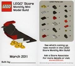 LEGO MMMB - March '11 (Bird) (TooMuchDew) Tags: holiday bird march lego vogel oiseaux legostore march11 legoimaginationcenter legoinstructions mmmb legoclub toomuchdew monthlyminimodelbuild licmoa minimodellbauevent