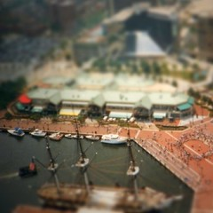 Baltimore Inner Harbor, experimenting with #tiltshift by ObieVIP