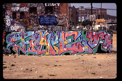 FRAME DTK at Sanborn yard in LA, 1991 (SD Graff) Tags: graffiti kos frame otr awr bsd dtk seko oiler tmk kecho