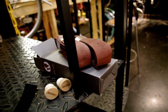 Brooks leather bar wrap.