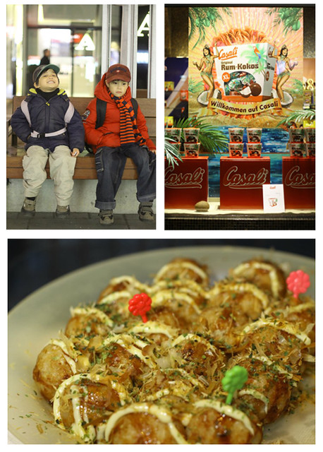 Takoyaki collage
