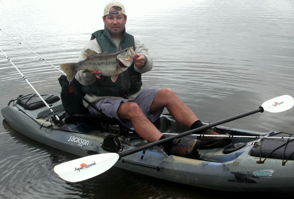 Caja's big bass in the Jackson Kayak Coosa