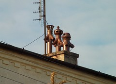 The three heralds. (Btapho) Tags: roof chimney vent herald notserious
