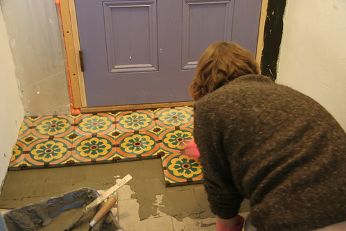tiling the mudroom