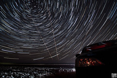 Star Trails in the Sky VIII (Frenklin) Tags: longexposure sea sky netherlands night waddenzee way skyscape stars star march wadden movement long exposure nacht nederland thenetherlands trails silhouettes nighttime galaxy le astrophotography astronomy nightsky groningen avond lucht universe dijk milky constellations dike hemel constellation melkweg silhouet startrails polaris lauwersoog maart milkyway lauwersmeer ster sporen northstar astronomie sterren waddensea 2011 hornhuizen ulrum polestar silhouetten demarne westpolder astrofotografie noordertoren milyway poolster maart2011