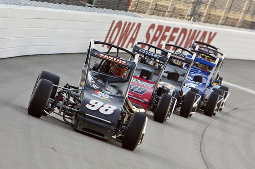 Casey's General Stores USAC Triple Crown race in Newton, IA.