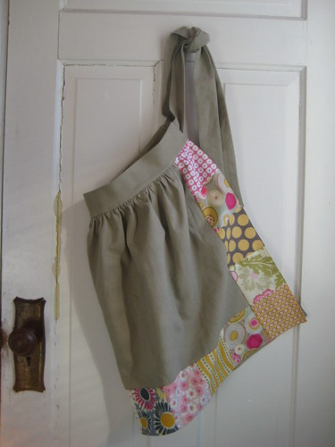 Linen Apron by Poppyprint