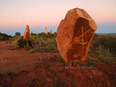 Sculpture Symposium (Paula McManus) Tags: sculpture art rock pen olympus artists outback brokenhill livingdesert 1442mm sculpturesymposium paulamcmanus epl1