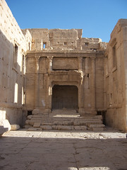 Interior view of the Temple of Baal in Palmyra, Syria. (II)