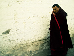 March 10 - Tibet (mattlindn) Tags: china old portrait cold beautiful temple freedom asia pretty maroon buddha buddhist religion cellphone happiness monk buddhism tibet monastery portraiture dreams mobilephone land amdo tibetan walls  liberation atmospheric uprising sangha whitewashed robes  march10