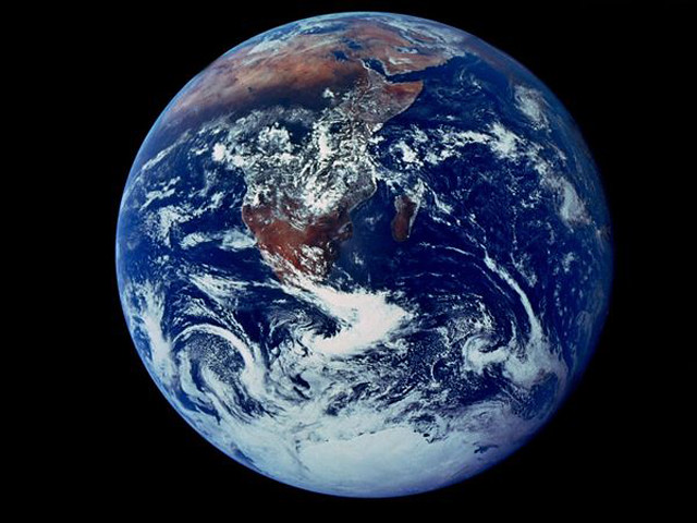 first photo of the earth