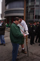 Parade marshals conferring