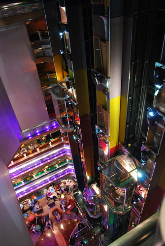 The Carnival Glory Main Elevators