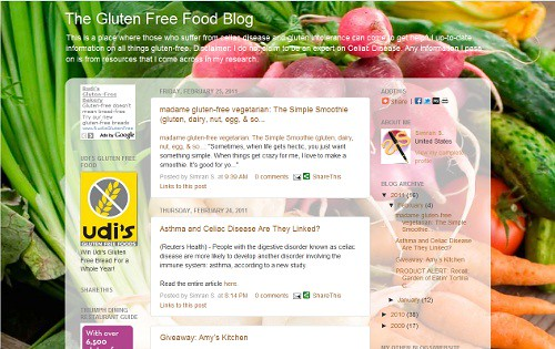 The Gluten Free Food Blog