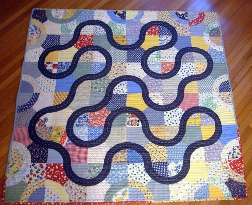 Henry's racetrack quilt