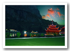 one evening at shangrila (TARIQ HAMEED SULEMANI) Tags: pakistan mountains tourism nature trekking hiking north resort peaks tariq shangrilla skardu kachura concordians hushay sulrmani