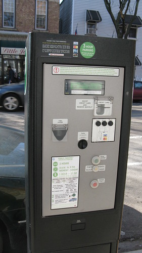 "Chicago's ""New"" parking ""Pay Boxes"" wich have replaced traditional parking meters on Chicago's city streets. Chicago Illinois USA. March 2011. by Eddie from Chicago"