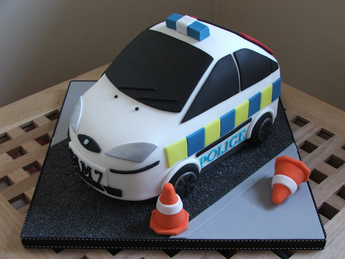 Police Car Cake Tutorial Police Car Birthday Cake