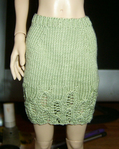 Lace Cable Skirt - Front