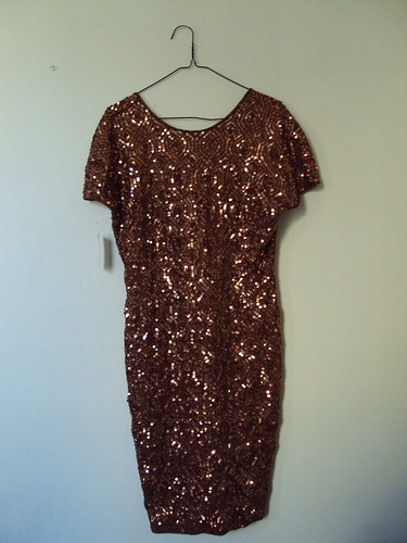 Bronze Vintage Sequin Dress