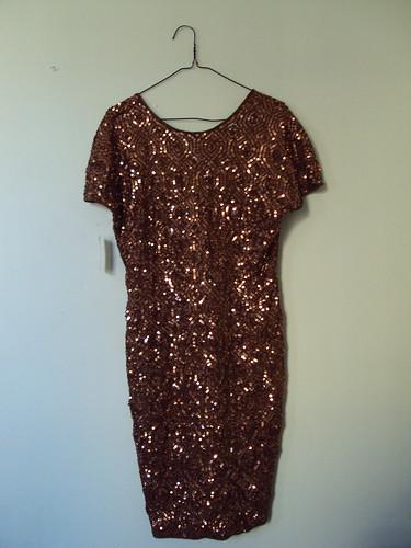 Bronze Vintage Sequin Dress