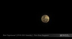 Rare 'Supermoon' -19/03/2011