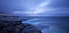 Lunar Patience (alexkess) Tags: sea cliff water rain seascapes sutherland kurnell theshire flickrexportdemo afsnikkor1735mmf28difed