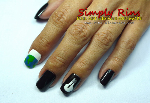 Nail Art Earth Hour 02
