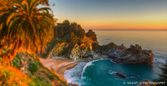 McWay Falls Sunset (Silent G Photography) Tags: california ca sunset photography waterfall pacific cove bigsur palm highway1 hdr highdynamicrange pfeifferstatepark mcwayfalls mckayfalls pfeifferburnsstatepark nikond7000 nikkor1635mmf4 markgvazdinskas silentgphotography