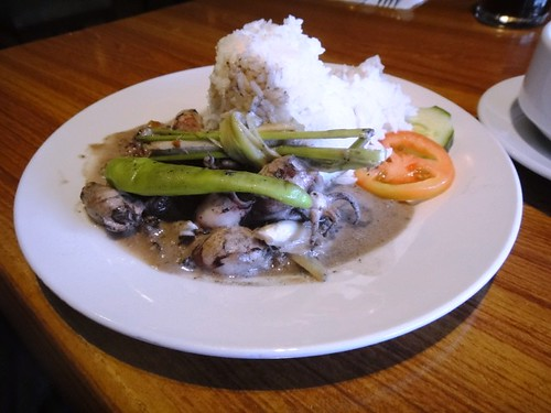 Squid in Coconut Milk with Pandan Rice