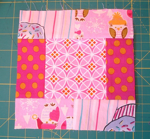 Altered Four Square Quilt Block Tutorial: Finished Bloc