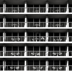 1 on 15 (Frederic-JG) Tags: street france detail building architecture facade digital table hotel mar blackwhite nice chair cotedazur view balcony radisson 15 commercial lane 1x1 warmtone graphique 2011 alpesmaritime hotelfacade fredericjg fredericblanque wwwfredericjgcom