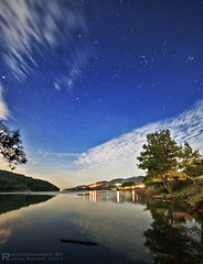 Latakia - Syria,Noon Stars (R.Azhari) Tags: sky lake seascape reflection water night canon way stars landscape major dam orion syria taurus milky perseus sigma1020mm canis auriga latakia lepus eos500d balloran touraroundtheworld t1i