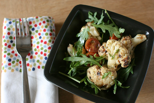 Grilled cauliflower salad
