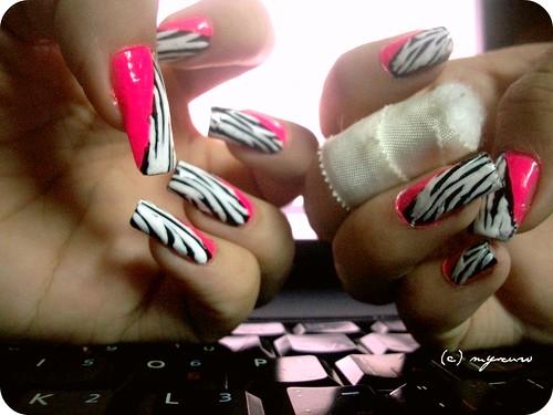 Wild zebra nails