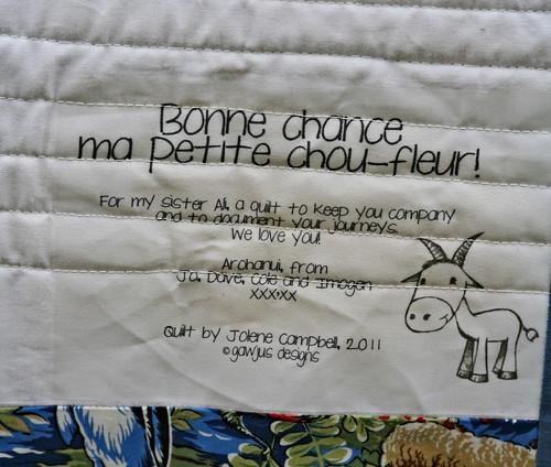 ali's quilt label