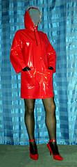 meine beste Freundin Nici (trixi.2007) Tags: fetish highheel vinyl rubber gummi rainwear pvc stiefel klepper raincape shinycoat regenmantel kleppermantel regencape lackmantel lackcape