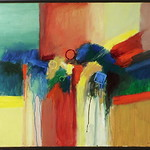 """<b>Concerto for Red and Green</b><br/> Richard Scherubel (LC '63) (Acrylic)<a href=""""http://farm6.static.flickr.com/5179/5571204257_54b28fa101_o.jpg"""" title=""""High res"""">∝</a>"""