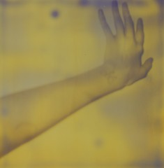 (Leanne Surfleet) Tags: white selfportrait black film polaroid experimental 600 process developing impossibleproject leannesurfleet px600
